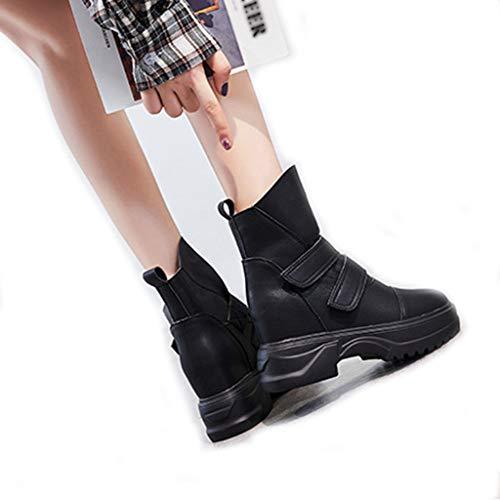 XHYX Martin laarzen dames Britse stijl klittenband leer korte laarzen vrouwen dikke en dikke vrouwen laarzen herfst en winter