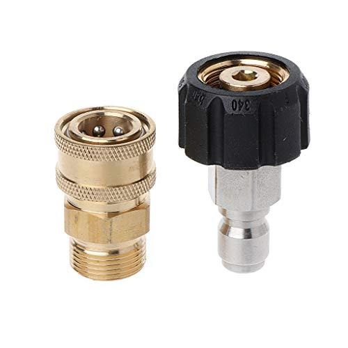 Ycncixwd 5000PSI Tool Daily Hochdruckreiniger-Adapter-Set Schnellkupplungs-Kit M22 14MM Schwenkbar auf metrische M22-Anschlüsse
