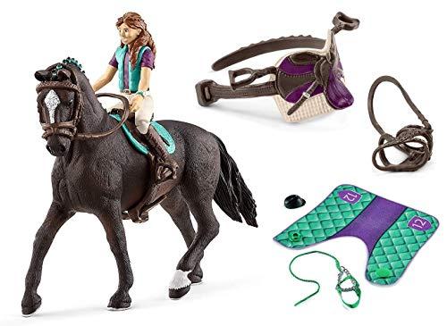 3in1-SET Schleich Pferde Horse Club - Lisa & Storm mit extra Pferdedecke und Sattel 42413 + 42461 + 42491