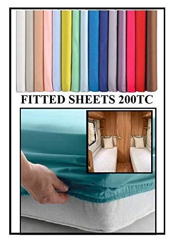 Bedtime Comforts Ltd Spannbettlaken für Wohnwagen/Wohnmobil/LKW (106,7 x 182,9 cm) Polycotton über 22 Farben 200 Fadenzahl, Baumwollmischung, Flieder, 9