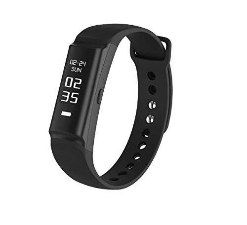 Urban S+, PWB-250 Fitness Band Activity Tracker with HRM Heart Rate Monitor Sleep Monitor Steps Pedometer Distance Exercise IP68 Waterproof Calories Track Interchangeable Bracelet High Accuracy