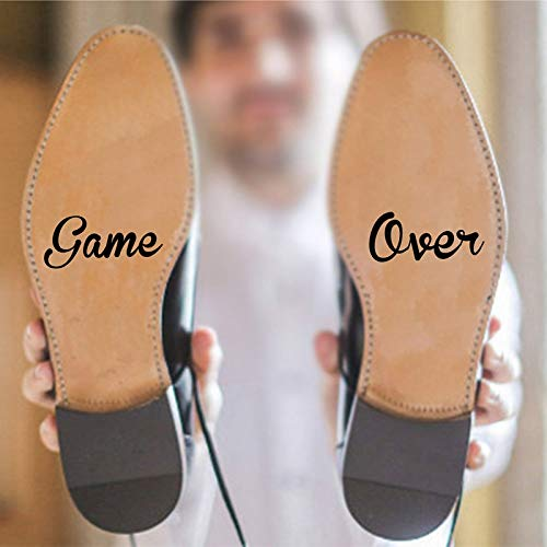 BLOUR Juego sobre el Novio, Novia, Amor, Vinilo, calcomanía artística, Pegatina para Matrimonio, Regalo Creativo, Accesorios Divertidos para Boda, decoración de Zapatos