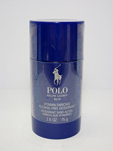 Ralph Lauren Polo Blue Alcohol Free Deodorant Stick 2.6oz 75g By Mario Shop.
