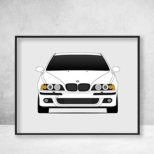 Poster Inspired by BMW M5 E39 5 Series (1998-2003) Poster Print Wall Art Decor Handmade M Power BMW M