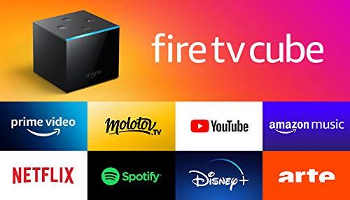 Fire TV Cube, Reconditionné Certifié   Mains-libres avec Alexa, lecteur multimédia en streaming 4K Ultra HD