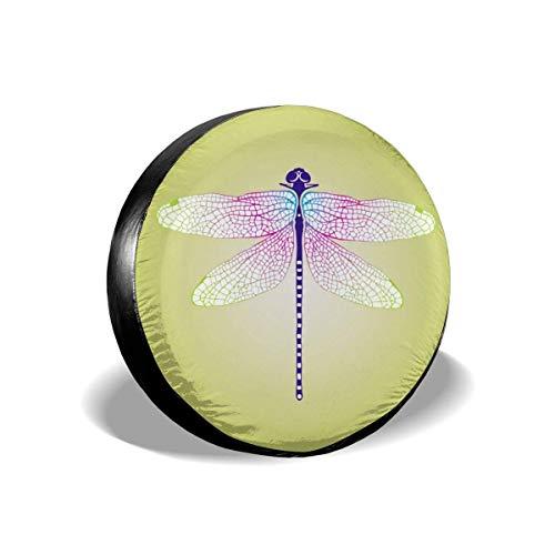 Fendy-Shop Repuesto Cubierta de neumático 14'-17' Patrón de libélula Cubierta Ligera para Autos de Repuesto
