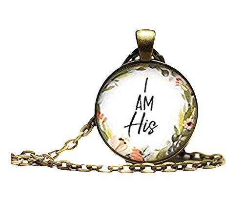 Sunshine I am His Necklace,Dome Glass Ornaments, Gifts for her,Beauty Necklace