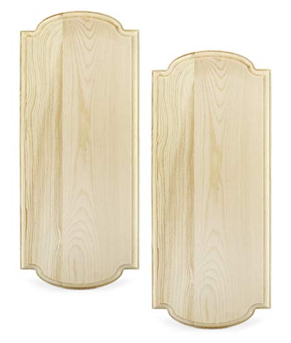 Darware Innkeeper Wooden Signs (2-Pack, Natural Unfinished); 14 x 6 Inch Unpainted Blank Signboards for DIY Arts & Crafts Home Decor