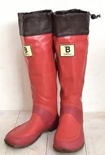 (BW-01)日本野鳥の会 バードウォッチング長靴 レインブーツ/ラバーブーツ レッド M