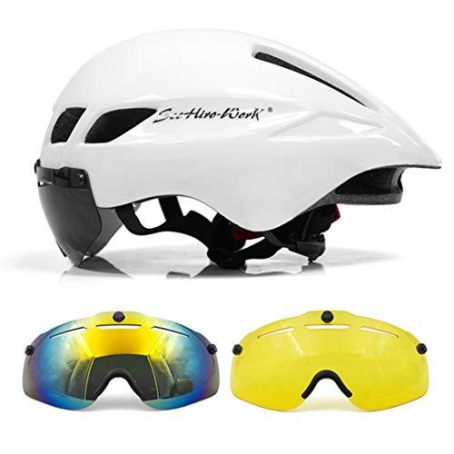Casco de Ciclismo Lente Magnética Gafas de montaña Carretera neumática Bicicleta Bicicleta...
