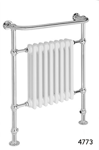 Global 952 x 686 handdoek-radiator Victoriaans chroom traditioneel wit radiatortower handdoekverwarmer handdoek warmer