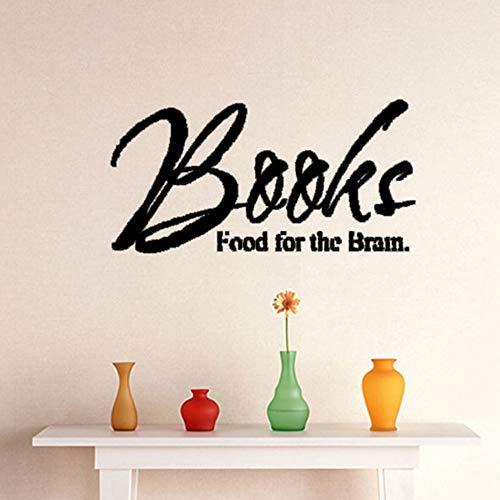yuandp Boeken eten voor de hersenen vliegtuig muursticker voor kamer muursticker letters decoratie accessoires wanddecoratie aftrekplaatjes 88 * 44 cm