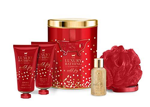 The Luxury Bathing Company Decadence Gift Set. Including 100ml Body Wash, 100ml Body cream, 50ml Foam Bath and a Body Polisher