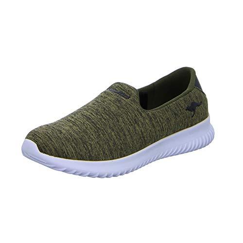 KangaROOS Unisex-Erwachsene KaBoo 9000 Slip On Sneaker, Grün (Khaki), 38 EU