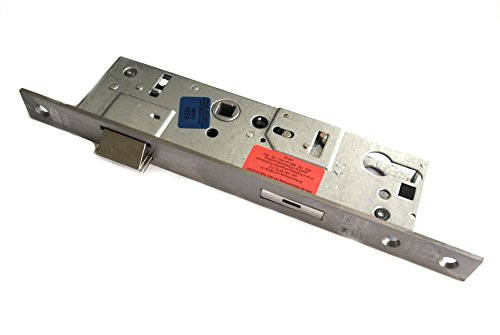 BKS B-18260-02-U-8 - Cerradura antipánico empotrable para puerta de emergencia (distancia al pestillo 40mm, distancia 92mm, orificio para manija 9mm, frontal 24x3x270mm esquinado, acero inoxidable)