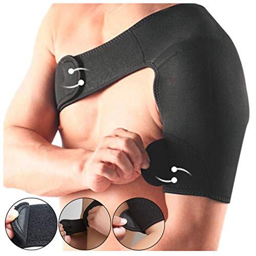 fine_fine Shoulder Brace, Adjustable Rotator Cuff Support for Women and Men Breathable Shoulder Brace Strap Wrap Pad Belt Sport Shoulder Protector (A)
