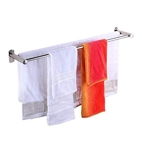 Fswallow Handtuchstange Schlagfreier Doppelständer, Edelstahl-Badetuchhalter 120 Cm, Handtuchhalter Wand-Küchenbad