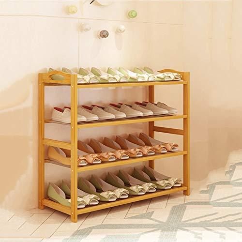 LJHA Étagère à chaussures Simple Économie de l'espace des ménages Dortoir en bois massif Simple moderne Armoire à chaussures de porte en bambou Étagère multicouche Meubles à chaussures