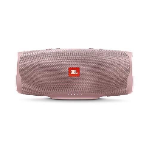 bocina rosa de la marca JBL