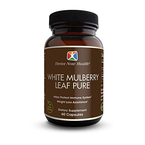 Thrive Now Health White Mulberry Leaf Pure Extract for Natural Weight Support - GMO Free Vegan Friendly Antioxidant 60 Ct.