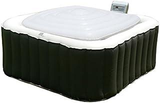 MSPA Hot Tub Jacuzzi Heat Preserver & Rain Outflow Cubierta de vejiga inflable cuadrada para 6 personas, Square Spa Alpine...