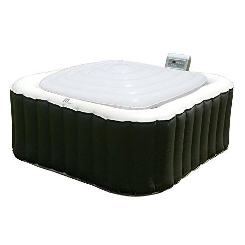 MSPA Hot Tub Jacuzzi Heat Preserver & Rain Outflow Cubierta de vejiga inflable cuadrada para 6 personas, Square Spa Alpine / Tekapo / Soho / Bliss / Lite