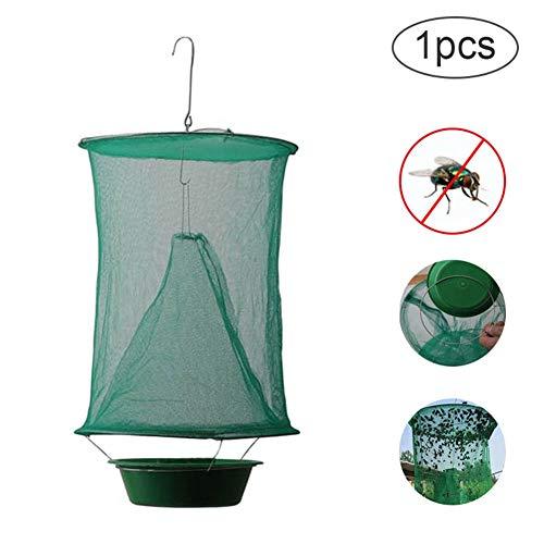 Mrinb Ranch Fliegenfalle, zusammenklappbare hängende grüne Fliegenfalle hängende Fliegenfänger Killerfliegen Fliegenfalle Zapper Käfig Netzfalle Garten Home Dropshipping #green Net + Pot