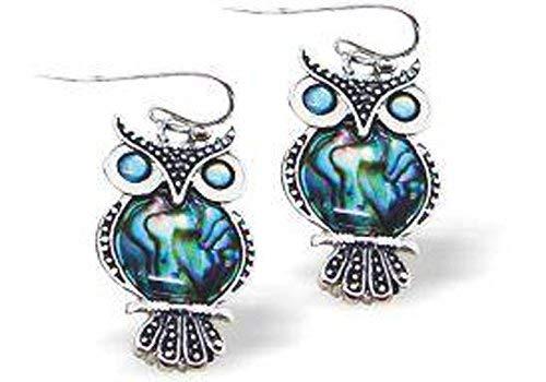 Byzantium Paua Shell Earrings Owl