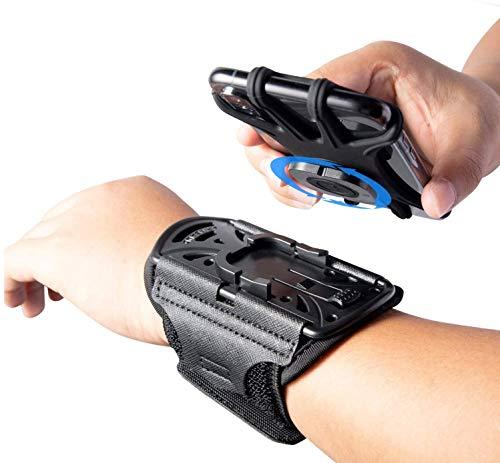 HLOMOM スマホ アームバンド ランニング スポーツ スマートフォン用 腕ホルダー 携帯 振れ止め 脱落防止 腕バンド 手首バンド 360°回転 取り外し 通気性抜群 簡単着脱 全画面対応 小物収納 防汗/軽量 4-6.5インチのスマホに対応 男女兼用 1年間保証