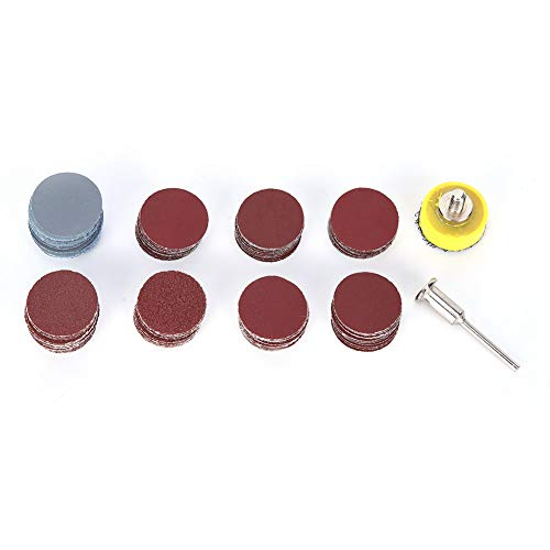Schleifscheiben, 1in Schleifscheiben Selbstklebendes Schleifpapier Schleifblatt Rundes Schleifpapier für Holz Metall
