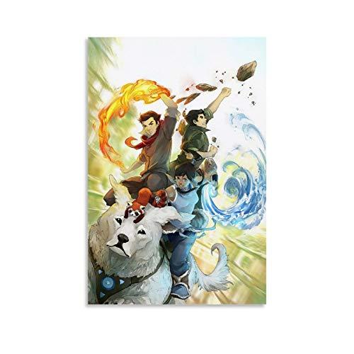 HULANG La Légende De Korra Fan Art - Póster decorativo para pared (60 x 90 cm)