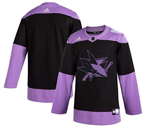 adidas San Jose Sharks Men's Hockey Fights Cancer Authentic Pro Jersey (50/M)