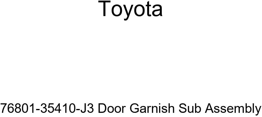 Genuine Toyota 76801-35410-J3 Door Animer and price revision Garnish Max 47% OFF Assembly Sub