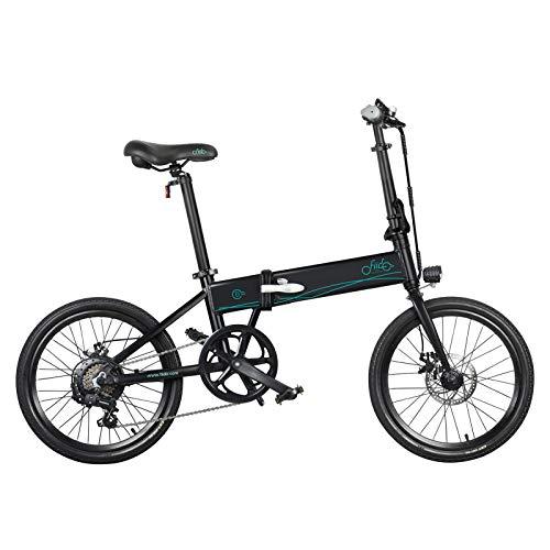 nimabi Bicicleta Eléctrica Bicicleta De Montaña Ebike Bicicleta Plegable De 20 Pulgadas con Batería De Litio De 36V 10.4Ah, Motor De 250 W A 25 Km/H, Soporte Eléctrico De 3 Velocidades Negro