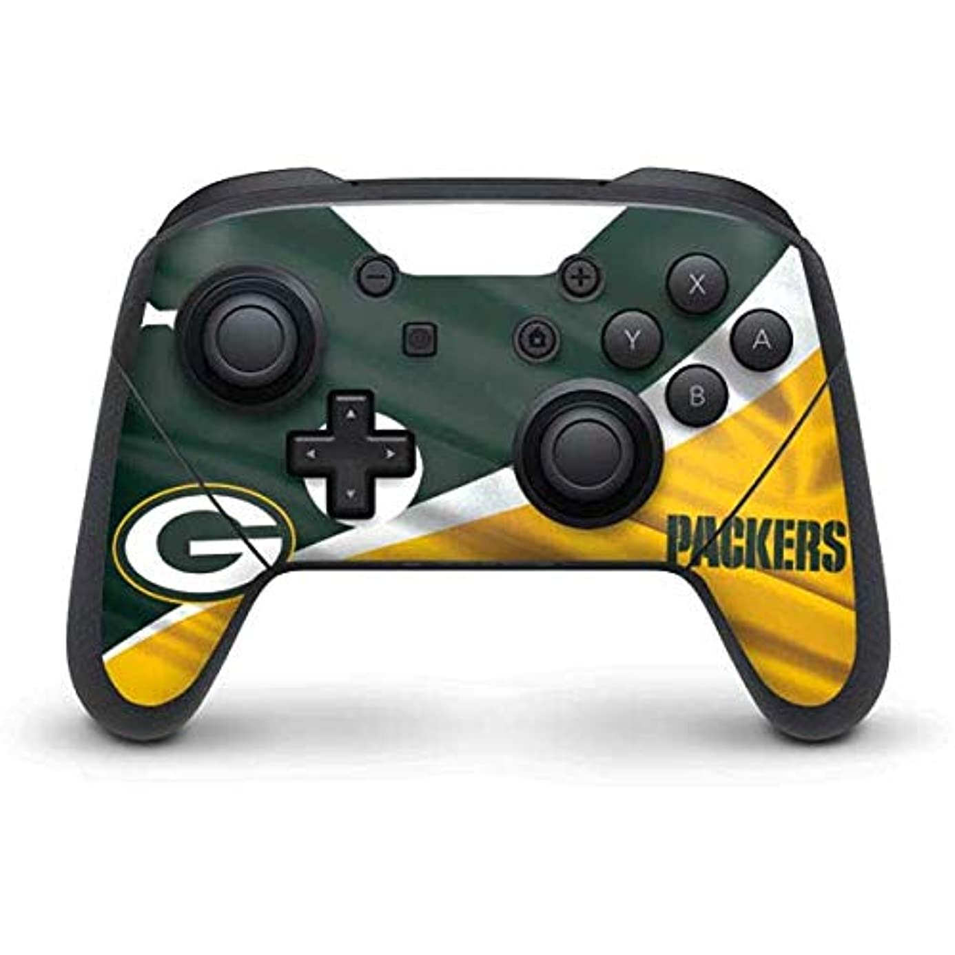 Skinit Green Bay Packers Nintendo Switch Pro Controller Skin - Officially Licensed NFL Gaming Decal - Ultra Thin, Lightweight Vinyl Decal Protection