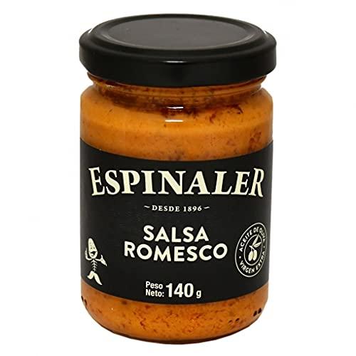 Espinaler - Salsa Romesco con Aceite de Oliva - Virgen Extra - Ideal para Verduras - 170 Gramos