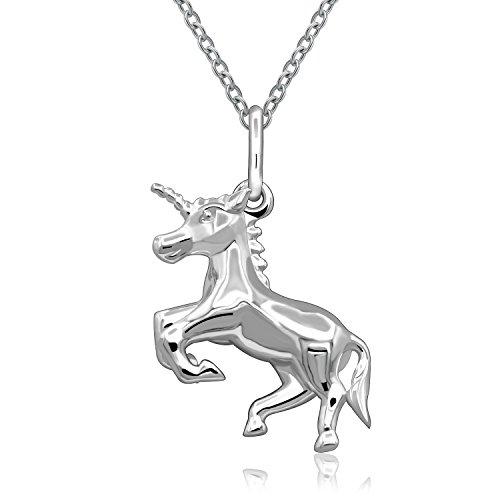 Ciondolo in argento Sterling 925con ciondolo a forma di unicorno, regali per ragazze e amiche