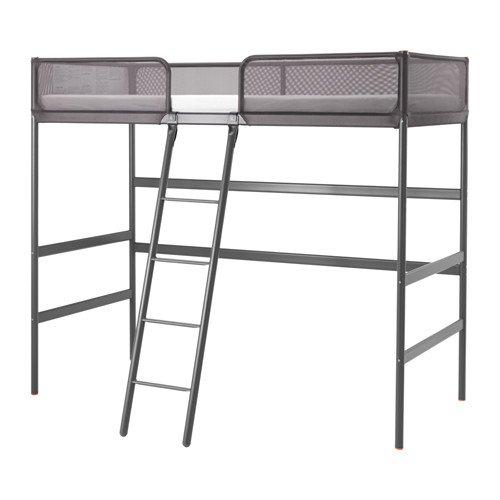 Ikea Loft - Marco de cama, color gris oscuro