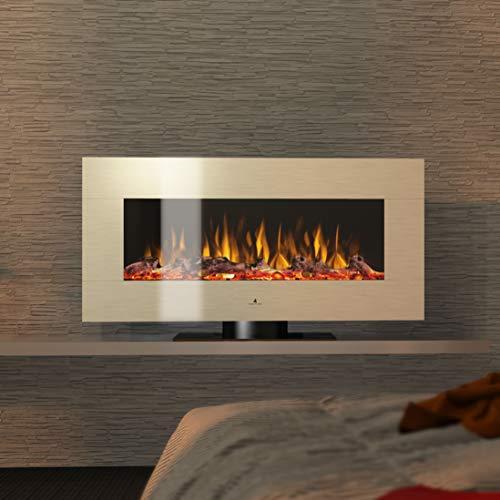 Noble Flame Vegas 900 Elektrische open haard staande haard open haard - afstandsbediening - verschillende breedtes - roestvrij staal
