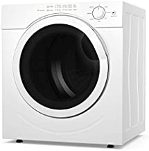COSTWAY Electric Portable Laundry Dryer, 13LBS Capacity Tumble Dryer with 1500W Drying Power, 3.2Cubic Feet Front Load, Portable Clothes Dryer Easy Control for 7 Automatic Drying Mode, White
