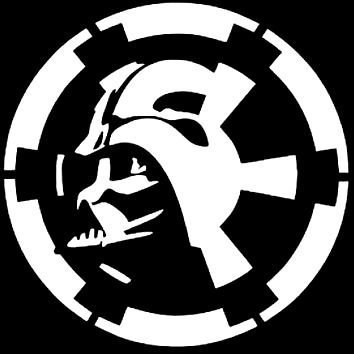 Keen Darth Vader Over Empire Logo Decal Vinyl Sticker Cars Trucks Walls Laptop White 5 in KCD489