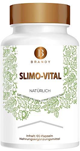 Brandy - SLIMO-VITAL - DAY AND NIGHT - für Männer und Frauen - STOFFWECHSELKUR, natürliche Inhaltsstoffe - 60 Kapseln, Monatspackung - Nahrungsergänzungsmittel