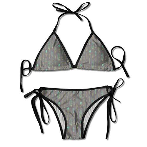 Dreieck Bikini Badeanzüge Boho Style Künstlerische Indianer Muster Ethnische Skizze Bikini Sets Strand Badebekleidung Badeanzug