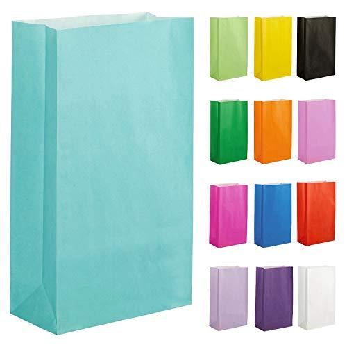 Thepaperbagstore 20 Papiertüten für Partys und Geschenke - Eierschale Blau - 140x245x70mm