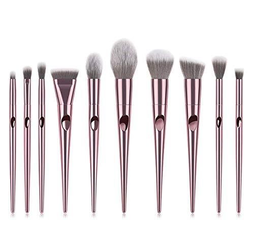 YGB Pinceaux de Maquillage, 10 Ensembles de Jeux de pinceaux de Maquillage Wet Wild Idéal pour Une Utilisation Professionnelle et Quotidienne