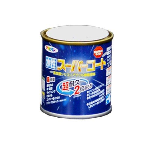 アサヒペン ペンキ 水性スーパーコート 水性多用途 オーシャンブルー 1/12L