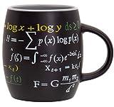 Decodyne Taza de matemáticas, 15 onzas Taza de café con famosas fórmulas matemáticas