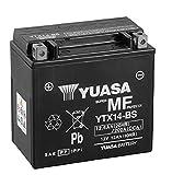 Batería para moto Yuasa YTX14-BS – Sin mantenimiento – 12 V 12 Ah – Dimensiones: 150 x 87 x 147 mm compatible con BMW F 800 S 2005