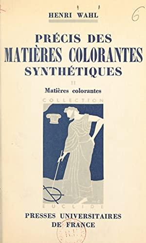 Précis des matières colorantes synthétiques (2)