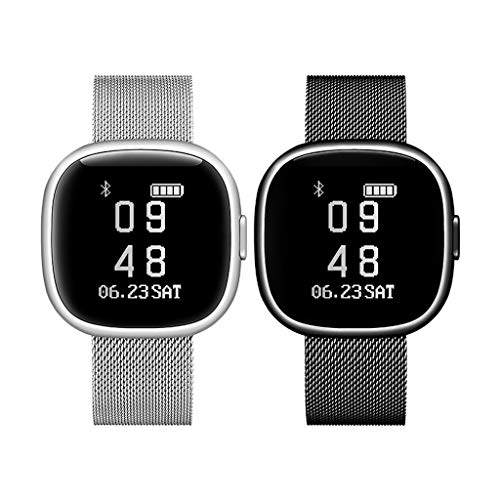 Amazing Deal Set of 2 Fitness HR Tracker Heart Rate Blood Pressure Oxygen Sleep Waterproof Health Mo...